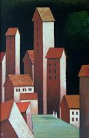 Hinrich-van-Huelsen-Architektur-Fantasie-Gegenwartskunst--Postsurrealismus