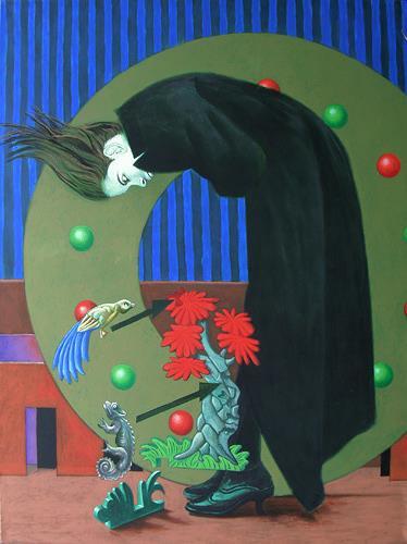 Hinrich van Hülsen, Alle Anschlüsse auf einen Blick, Menschen: Frau, Fantasie, Postsurrealismus, Abstrakter Expressionismus