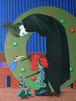 Hinrich-van-Huelsen-Menschen-Frau-Fantasie-Gegenwartskunst--Postsurrealismus