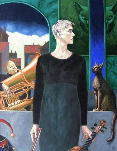 Hinrich van Hülsen, Die Musik des Jokers, Menschen: Frau, Fantasie, Realismus, Abstrakter Expressionismus
