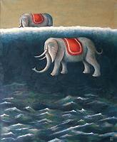 Hinrich-van-Huelsen-Tiere-Land-Fantasie-Gegenwartskunst--Postsurrealismus