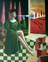 Hinrich-van-Huelsen-Menschen-Frau-Skurril-Gegenwartskunst--Postsurrealismus