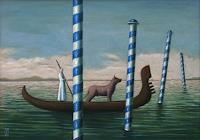 Hinrich-van-Huelsen-Landschaft-See-Meer-Natur-Wasser-Gegenwartskunst--Postsurrealismus
