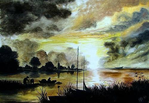Josef Balek, Aert van der Neer, Landschaft: See/Meer, Landschaft: See/Meer, Realismus, Expressionismus