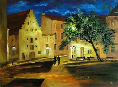 Josef Balek, Budweis, Architektur, Architektur, Land-Art, Expressionismus