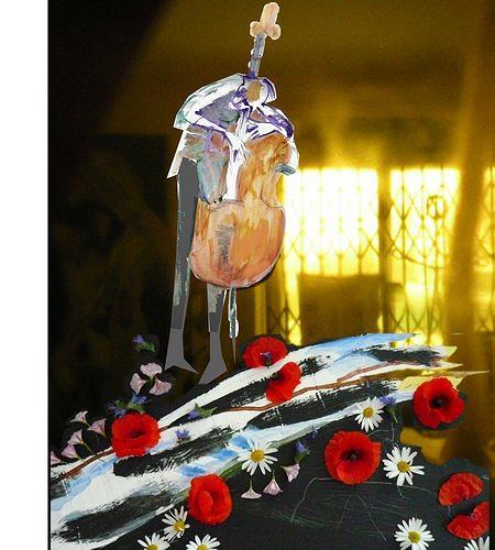 Reiner Poser, My weeping bass and roses for all lovin' women, Dekoratives, Pluralismus, Abstrakter Expressionismus