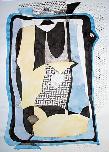 Reiner Poser, Gerastertes Objekt, Abstraktes, Arte Cifra, Abstrakter Expressionismus