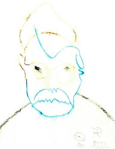 Reiner Poser, Vereistes Selbstporträt, Menschen: Gesichter, Neo-Expressionismus