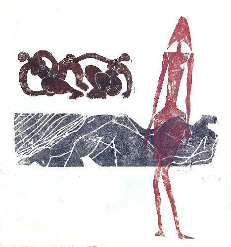 """Reiner Poser, Ich mein die, die da am Eingang steht""""..., Menschen: Gruppe, New Image Painting, Gegenwartskunst"""