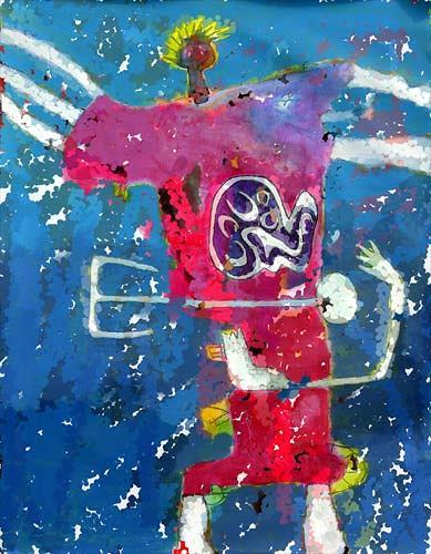 Reiner Poser, Jimmy Hendrix in Concert, Menschen: Mann, Neo-Expressionismus