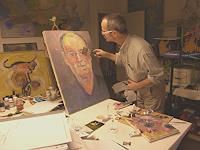 R. Poser, Im Atelier