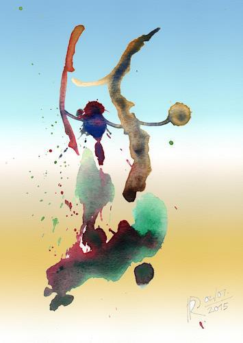 Reiner Poser, Touareg-Frauen beim Wäscheaufhängen, Situationen, Minimal Art, Expressionismus