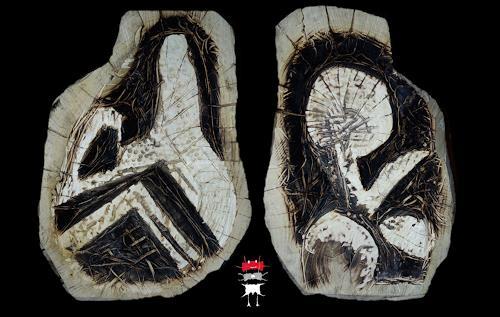 Reiner Poser, Amulett XXL, Symbol, Minimal Art, Abstrakter Expressionismus