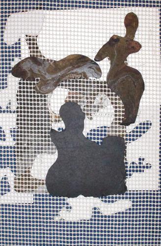 Reiner Poser, On the Beach, Skurril, Arte Cifra, Abstrakter Expressionismus