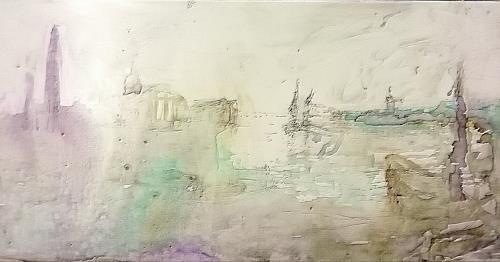 Reiner Poser, Venice, my Love, Landschaft, Expressionismus