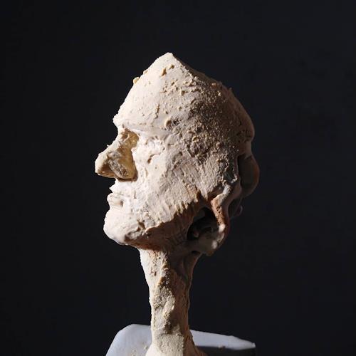 Reiner Poser, Kleiner Nachdenklicher, Menschen, Menschen: Gesichter, Gegenwartskunst, Abstrakter Expressionismus