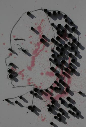 Reiner Poser, Pearls, Menschen, Menschen: Frau, Abstrakte Kunst