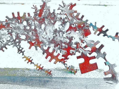 Reiner Poser, Grandig, Abstraktes, Abstrakte Kunst, Abstrakter Expressionismus
