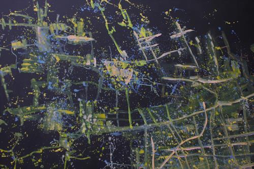 Reiner Poser, Shanghai aus dem Weltall gesehen, Landschaft, Abstrakte Kunst