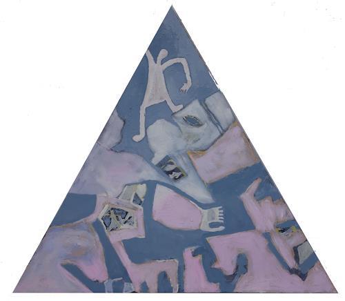Reiner Poser, Dreieck Nr eins, Abstraktes, Abstrakte Kunst