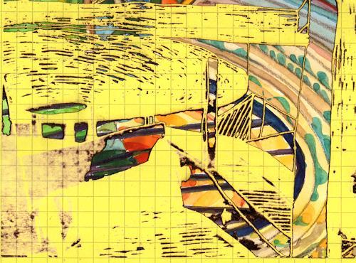 Reiner Poser, Lasercollage I, Abstraktes, Informel