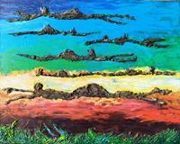 Reiner-Poser-Skurril-Moderne-Abstrakte-Kunst-Action-Painting