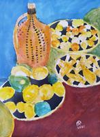 Reiner-Poser-Pflanzen-Fruechte-Moderne-Expressionismus-Abstrakter-Expressionismus