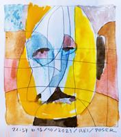 Reiner-Poser-Menschen-Gesichter-Moderne-Expressionismus-Abstrakter-Expressionismus