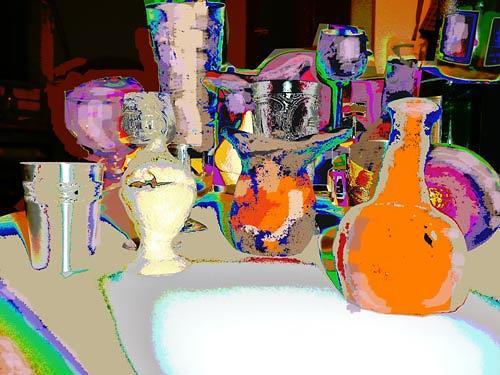 Reiner Poser, Gefässe II, Diverses, Hyperrealismus, Expressionismus