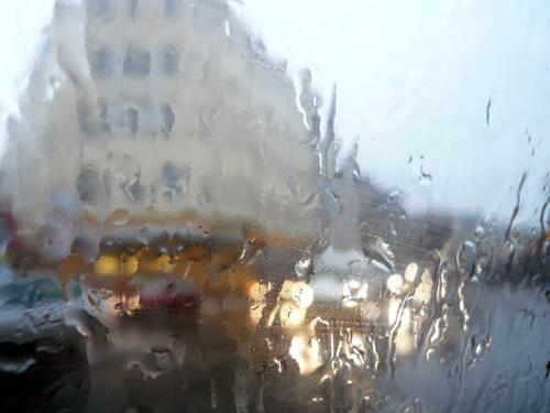 Reiner Poser, Regen, Situationen, Spurensicherung, Abstrakter Expressionismus