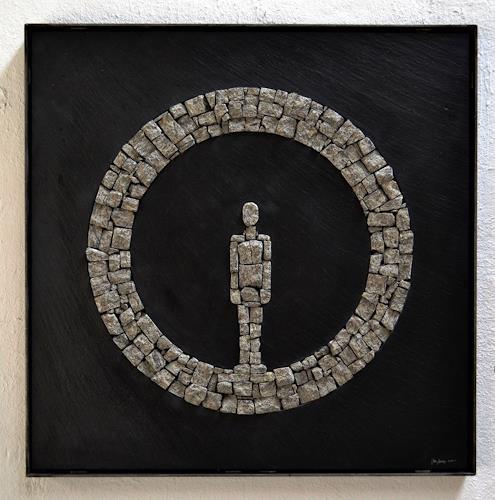 Cla Coray, Verlust der fiktiven Vollkommenheit, Menschen: Mann, Gesellschaft, Gegenwartskunst