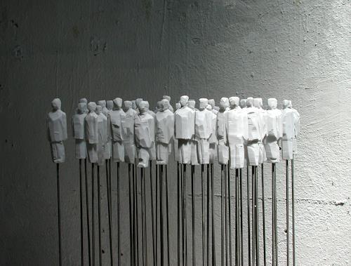 Cla Coray, Massenbewegung 3 (Ellebögle), Gesellschaft, Moderne