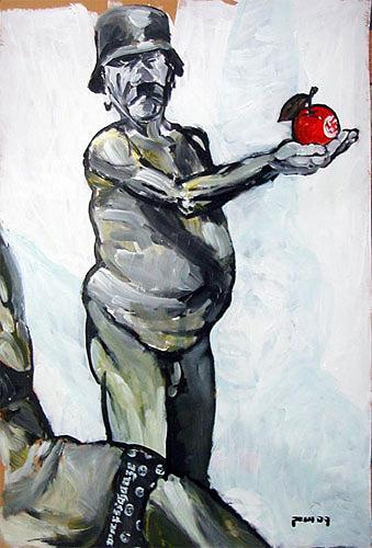 Nikolaus Pessler, Adolf und Eva ...., Diverses, Gegenwartskunst, Abstrakter Expressionismus