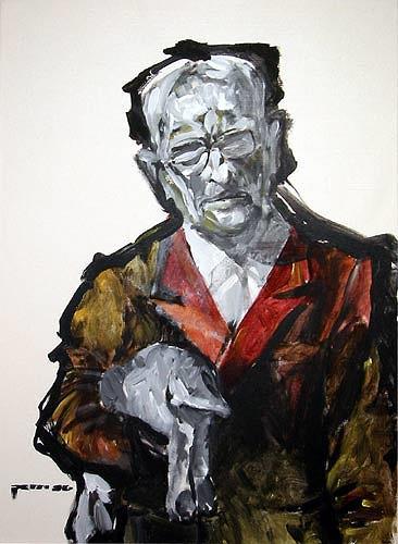 Nikolaus Pessler, Adolf Eichmann erklärt einem toten Hasen die Arbeitsweise kleiner Rädchen ..., Diverses, Gegenwartskunst, Abstrakter Expressionismus
