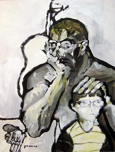 Nikolaus Pessler, Der Gaukler ..., Menschen: Familie, Gegenwartskunst, Abstrakter Expressionismus