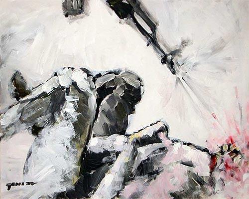 Nikolaus Pessler, Der längste Bildtitel ...., Diverses, Gegenwartskunst, Abstrakter Expressionismus