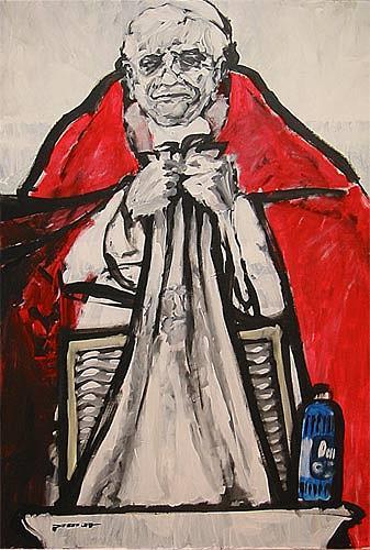 Nikolaus Pessler, Waschtag im Vatikan ..., Diverses, Gegenwartskunst, Abstrakter Expressionismus