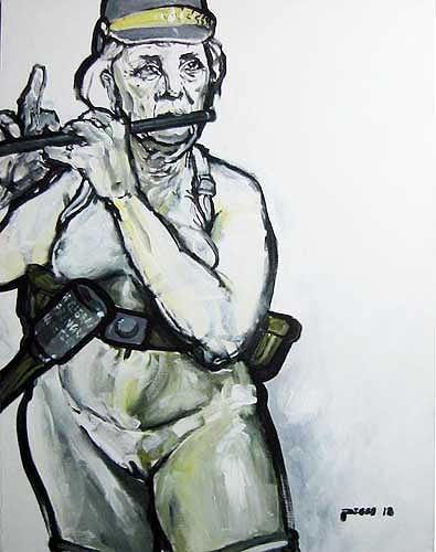 Nikolaus Pessler, Der Buendnisfall (frei nach Manet) ......, Diverses, Gegenwartskunst, Abstrakter Expressionismus