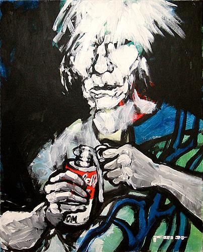 Nikolaus Pessler, Warhol was a fuckin taliban ..., Diverses, Gegenwartskunst, Abstrakter Expressionismus