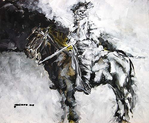 Nikolaus Pessler, General Custer vor den brennenden Ölfeldern von Ahwaz-Asmari, Diverses, Gegenwartskunst