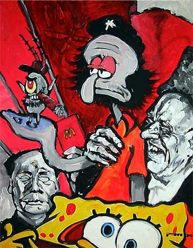 Nikolaus Pessler, Auch Trickhelden werden bei sinkenden Einschaltquoten abgesetzt, Diverses, Gegenwartskunst, Abstrakter Expressionismus