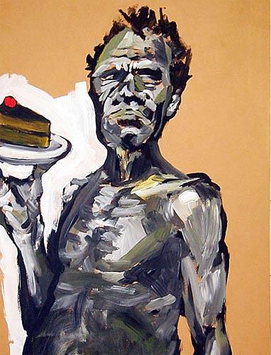 Nikolaus Pessler, ... wenn sich Neger kein Brot mehr leisten können, sollen Sie doch Kuchen essen ..., Diverses, Gegenwartskunst, Abstrakter Expressionismus