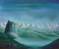 Weiss-Stefan-Fantasie-Landschaft-Berge-Neuzeit-Romantik