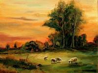 Weiss-Stefan-Landschaft-Ebene-Tiere-Land-Moderne-Naturalismus