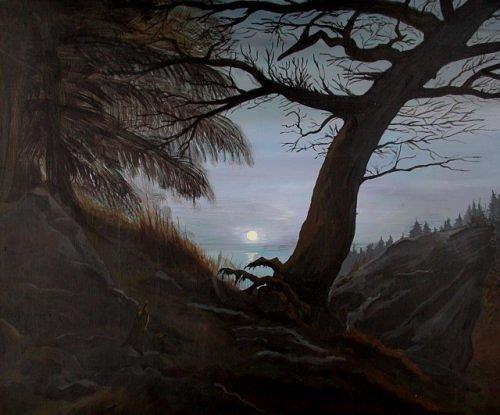 nacht im wald von wei stefan landschaft berge natur wald malerei. Black Bedroom Furniture Sets. Home Design Ideas