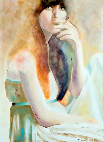 FrederiqueK, Jeune fille à la cigarette, Gefühle: Liebe, Gegenwartskunst