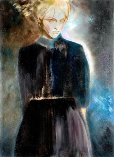FrederiqueK, Le voile bleu, Fantasie, Gefühle: Trauer, Neo-Expressionismus