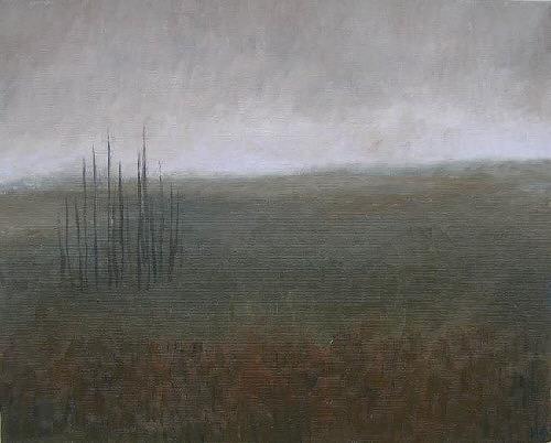 Katrin Ginster, feld, Landschaft: Winter, Gegenwartskunst