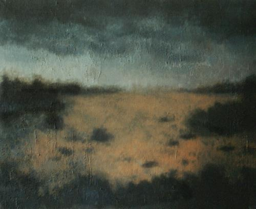 Katrin Ginster, Dämmerung, Diverse Landschaften, Gegenwartskunst, Abstrakter Expressionismus