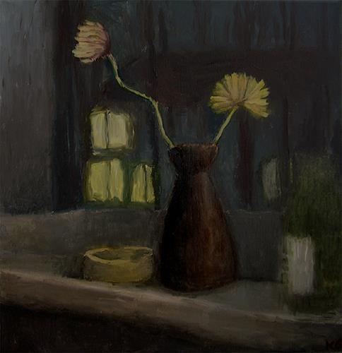 Katrin Ginster, küchenfenster, Stilleben, Gefühle: Depression, Gegenwartskunst